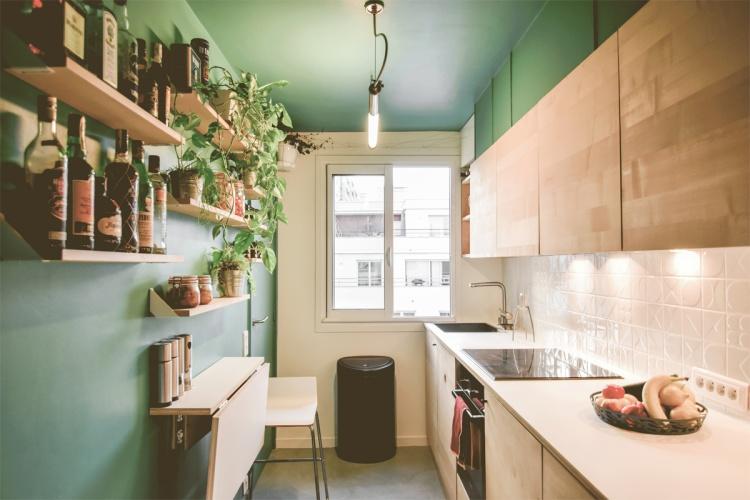 LES ALLEES : architecte-renovation-cuisine-table-pliante-AREA-Studio