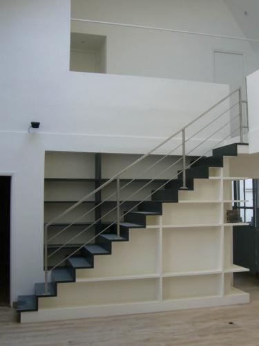 Escalier-Bibliothèque dans appartement : daubigny Vue 4