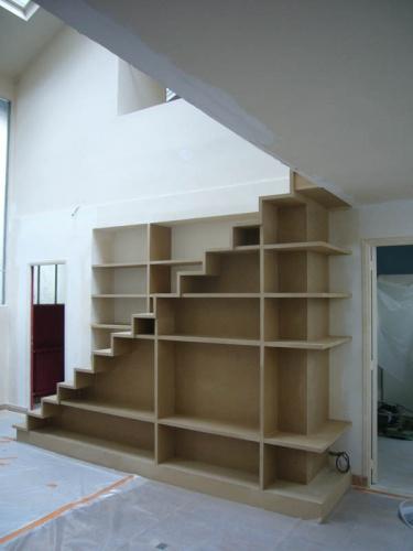 Escalier-Bibliothèque dans appartement : daubigny Vue 2