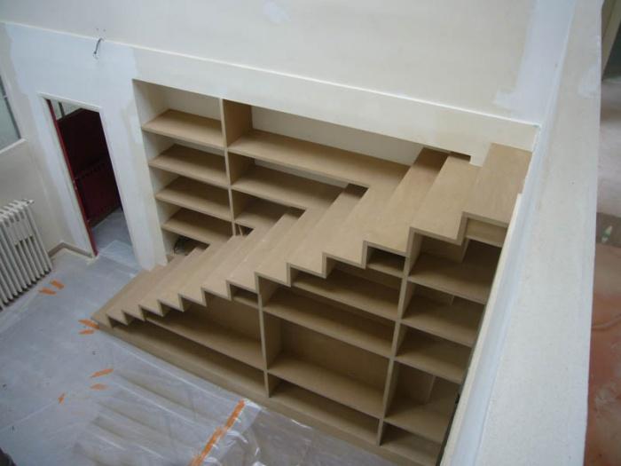 Escalier-Bibliothèque dans appartement : daubigny Vue 3
