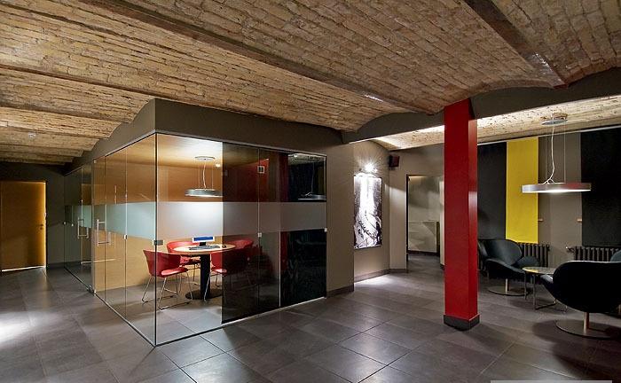 Restructuration d'un local en bureaux d'entreprise - Hall d'accueil