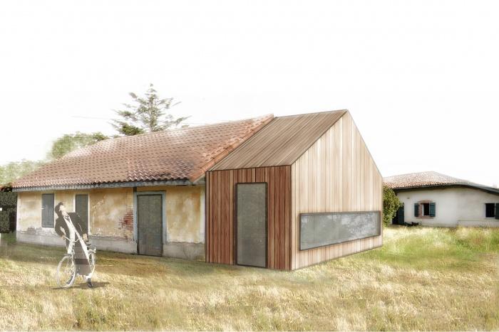 Réhabilitation et extension d'une maison traditionnelle landaise