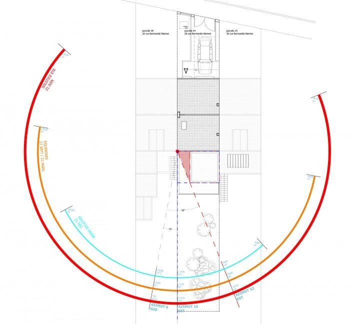 Extension de maison de ville : Etude Solaire