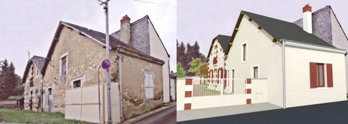 Réunion de deux anciennes maisons à LA FLECHE (72) : HELENE Photo 1