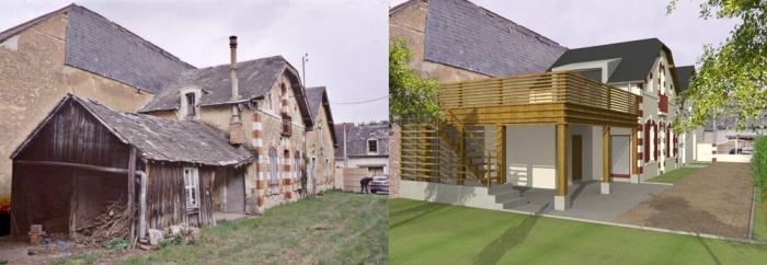 Réunion de deux anciennes maisons à LA FLECHE (72) : HELENEPhoto 2