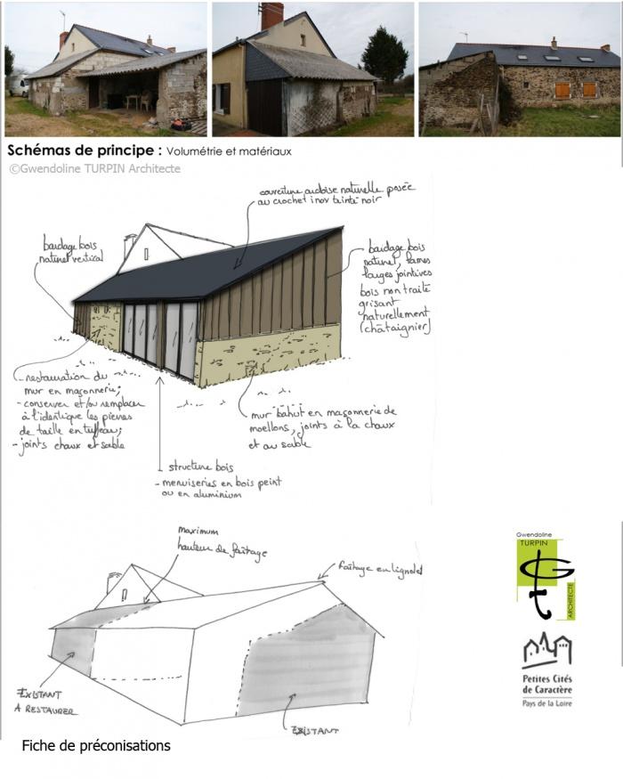 Extension d'une maison individuelle sur les bases d'un ancien appentis : SAVENNIERES_EXTENSION