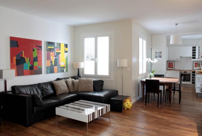 Rénovation d'un appartement : Séjour 1