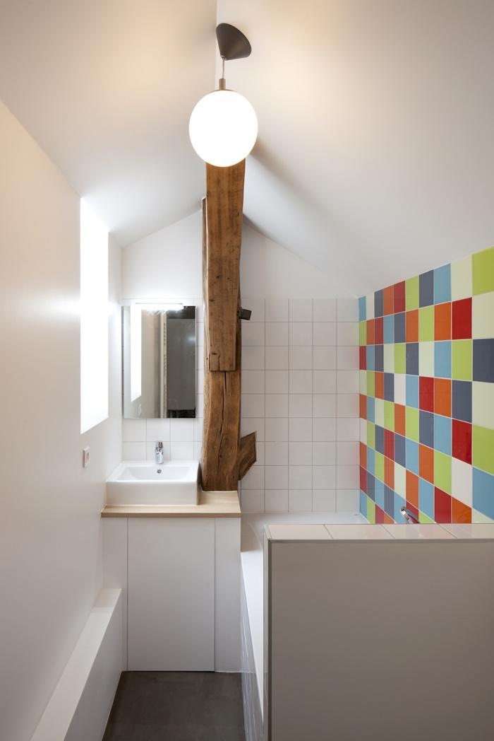 DUPLEX SOUS LES TOITS : Salle de bains