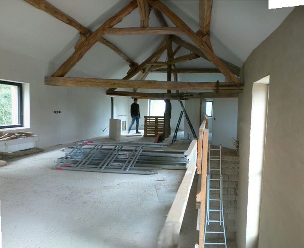 Transformation d'une grange en loft : Chantier