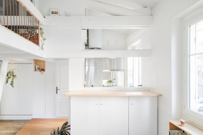 Rénovation d'un appartement duplex : 02 Double hauteur vers cuisine