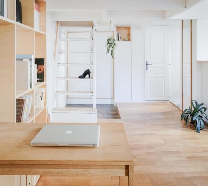 Rénovation d'un appartement duplex : 06 Bureau sur entre?e