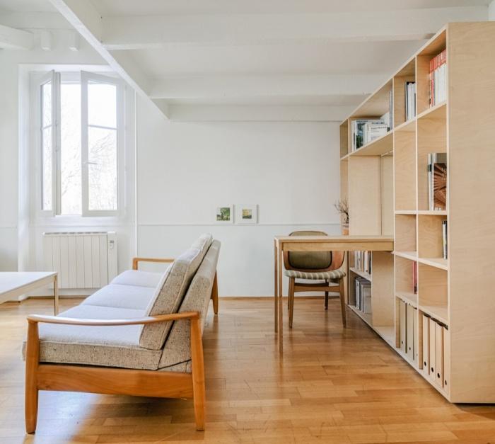 Rénovation d'un appartement duplex : 07 Bureau depuis entre?e