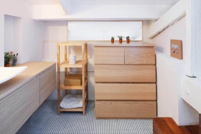 Rénovation d'un appartement duplex : 14 Salle de bain imposte