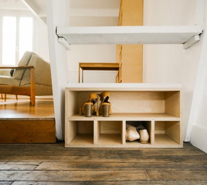 Rénovation d'un appartement duplex : 16 Meuble a? chaussures