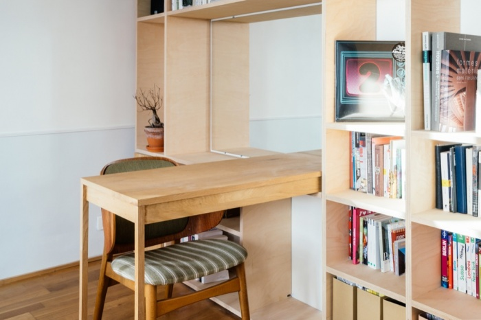 Rénovation d'un appartement duplex : 21 Bibliothe?que zoom 1