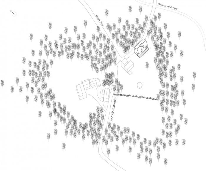 Transformation d'une grange en habitation, transformation de la toiture : AUGEROLLES situation