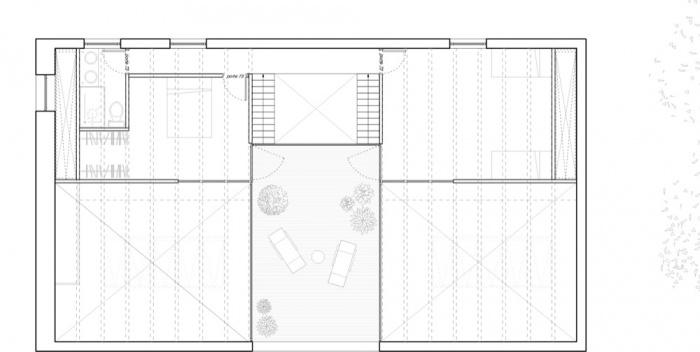 Transformation d'une grange en habitation, transformation de la toiture : AUGEROLLES R+1