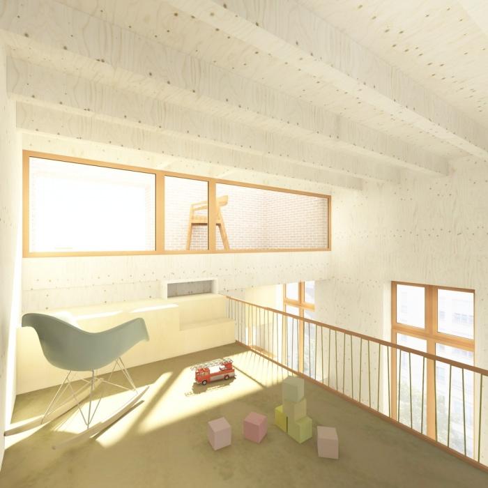 Surélévation d'un immeuble d'angle : 2 MEZZANINE tumblr fond LUMIERE