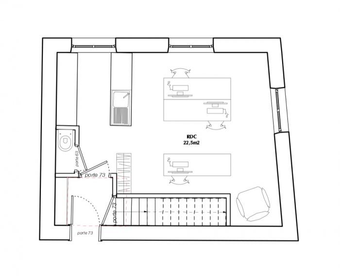 Surélévation d'un immeuble d'angle : TUMBLR RDC