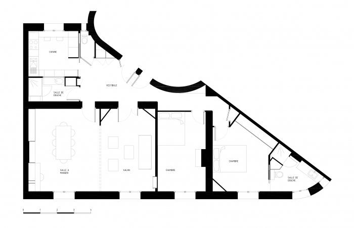 Restructuration complète d'un appartement Haussmannien : PLAN-BANVILLE-BOOK-ECHELLE-LIGHT