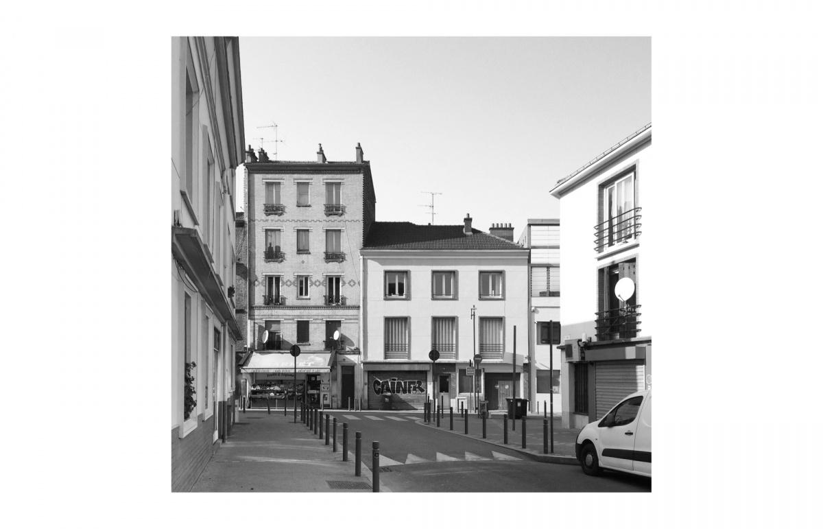 Surélévation pour création d'un duplex avec terrasse : SAINT OUEN existant depuis la rue copie