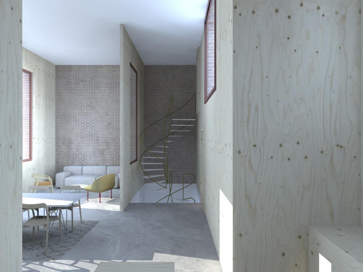 Surélévation pour création d'un duplex avec terrasse : Cam_2